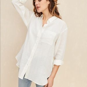 Jenni Kayne 100% Linen Boyfriend Shirt Small